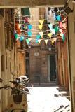 Cozy street in Barcelona Spain Stock Image