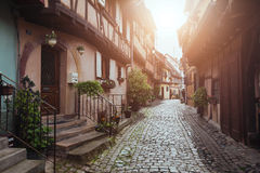 Cozy street in Europe Royalty Free Stock Photo