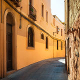 Cozy street in european city Royalty Free Stock Photography