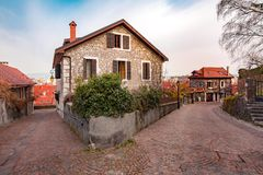 Cozy street in Old Town of Annecy, France Royalty Free Stock Images