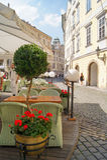 Cozy street restaurant Royalty Free Stock Image