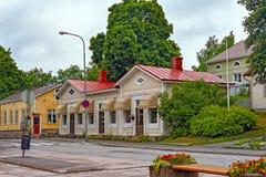 Cozy street of small coastal town Tammisaari, Finland. Cozy street of small coastal town Tammisaari (Ekenas), Finland, after rainstorm stock photos