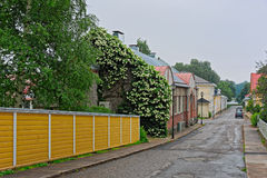 Cozy street of small coastal town Tammisaari, Finland. Cozy street of small coastal town Tammisaari (Ekenas), Finland, after rainstorm stock photography
