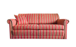 Cozy striped Sofa Royalty Free Stock Photography