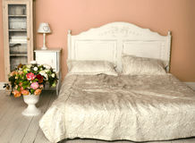 Cozy stylish vintage corner of the bedroom Royalty Free Stock Photo