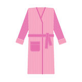 Cozy tabby bathrobe vector illustration Stock Image