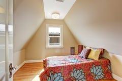 Cozy velux bedroom interior Stock Image