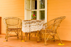 Cozy veranda Stock Photos