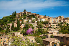 Cozy village Deia on the hill Royalty Free Stock Photography