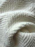 Cozy White Blanket Stock Photo