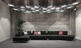 Cozy windowless living room interior Royalty Free Stock Image