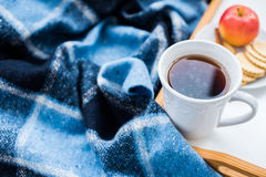 Cozy winter breakfast Royalty Free Stock Image