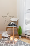 Cozy winter composition in a room royalty free stock photography