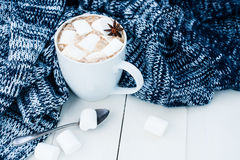 Cozy winter home background Stock Images