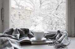 Cozy winter still life stock image