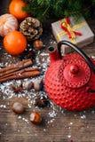 Cozy winter tea party Stock Image