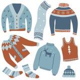 Cozy winter. Vector set stock illustration