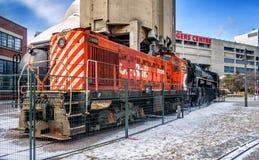CP路轨引擎 库存图片