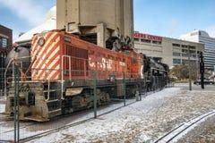 CP прокладывает рельсы двигатель на музее Торонто железнодорожном стоковое изображение rf