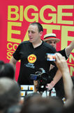 CP Biggest Eater Contest 2010 : Joey Chestnut. World�s biggest eater Joey Chestnut proved his might at the CP Biggest Eater 2010 competition, downing 380 Stock Images