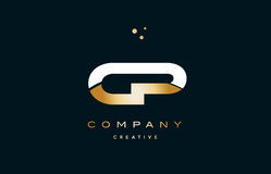Cp c p white yellow gold golden luxury alphabet letter logo ico. Cp c p white yellow gold golden metal metallic luxury alphabet company letter logo design vector royalty free illustration