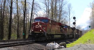 CP Freight Train at Lake Errock Crossing Stock Photo