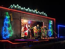 CP Holiday Train. In Salmon Arm, BC on Dec. 15 2014 Royalty Free Stock Photos