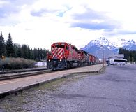 CP 5919 Mail Train, Banff. Royalty Free Stock Photo
