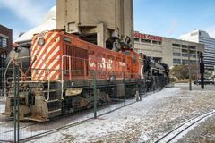CP Rail Engine at the Toronto Railway museum Royalty Free Stock Image