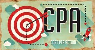 CPA Concept. Cartel en diseño plano. Fotografía de archivo libre de regalías