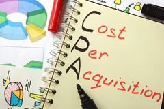 CPA Cost Per Acquisition Stock Photography