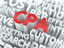 CPA. Det Wordcloud begreppet. Arkivbild
