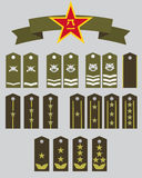 CPA-Militärränge und -stern Stockfotos
