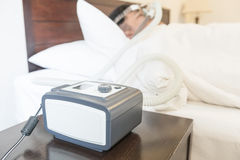 CPAP machine Royalty Free Stock Images