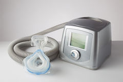 CPAP machine, mask and hose Stock Images