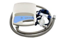 CPAP Maschine mit Ausschnittspfad Lizenzfreie Stockfotos