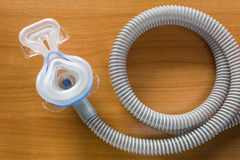 CPAP mask and hose Royalty Free Stock Photos