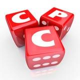CPC-Kosten per Klik Online Web die Gerichte Marketing adverteren stock illustratie