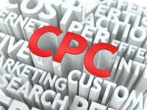 CPC. The Wordcloud Concept. Royalty Free Stock Images