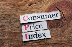 CPI - Índice de precios al consumo Foto de archivo libre de regalías