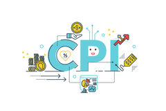 CPI : Consumer Price Index word Stock Images