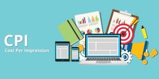 Cpi cost per impression impressions concept goals Stock Photography