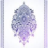 Cópia indiana boêmia de toalha da mandala Estilo da tatuagem da hena do vintage Imagens de Stock