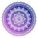 Cópia indiana boêmia de toalha da mandala Medalhão do indiano do estilo da tatuagem da hena do vintage Imagens de Stock