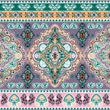 Cópia sem emenda floral indiana bonita do ornamento de paisley étnico Imagens de Stock