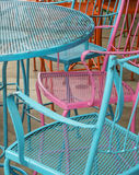 Cplorful cafe chairs Royalty Free Stock Image
