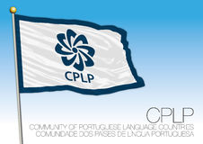 Cplp flag, Portuguese speaking country organizations Royalty Free Stock Photos