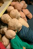 CPR训练人体模型 免版税库存图片