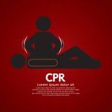 CPR ή καρδιοπνευμονική νεκρανάσταση Στοκ Εικόνες