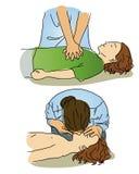 CPR για τα παιδιά Στοκ εικόνα με δικαίωμα ελεύθερης χρήσης